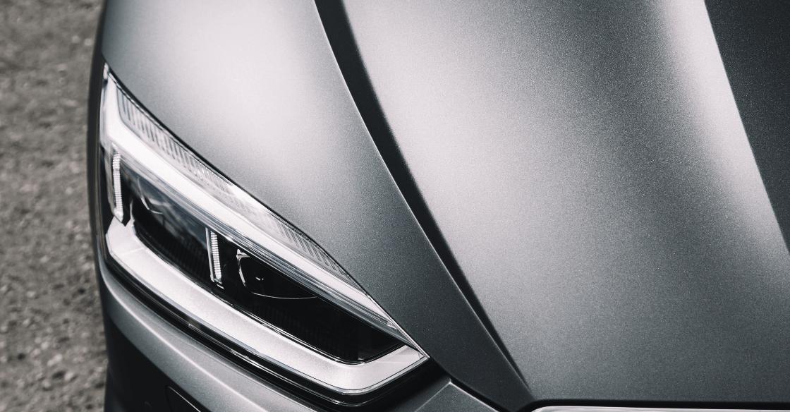 Close up detail of a matte car wrap.